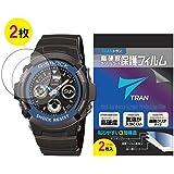 TRAN(トラン)(R) CASIO 腕時計 G-SHOCK ジーショック 対応 液晶保護フィルム 2枚セット 高硬度ア…