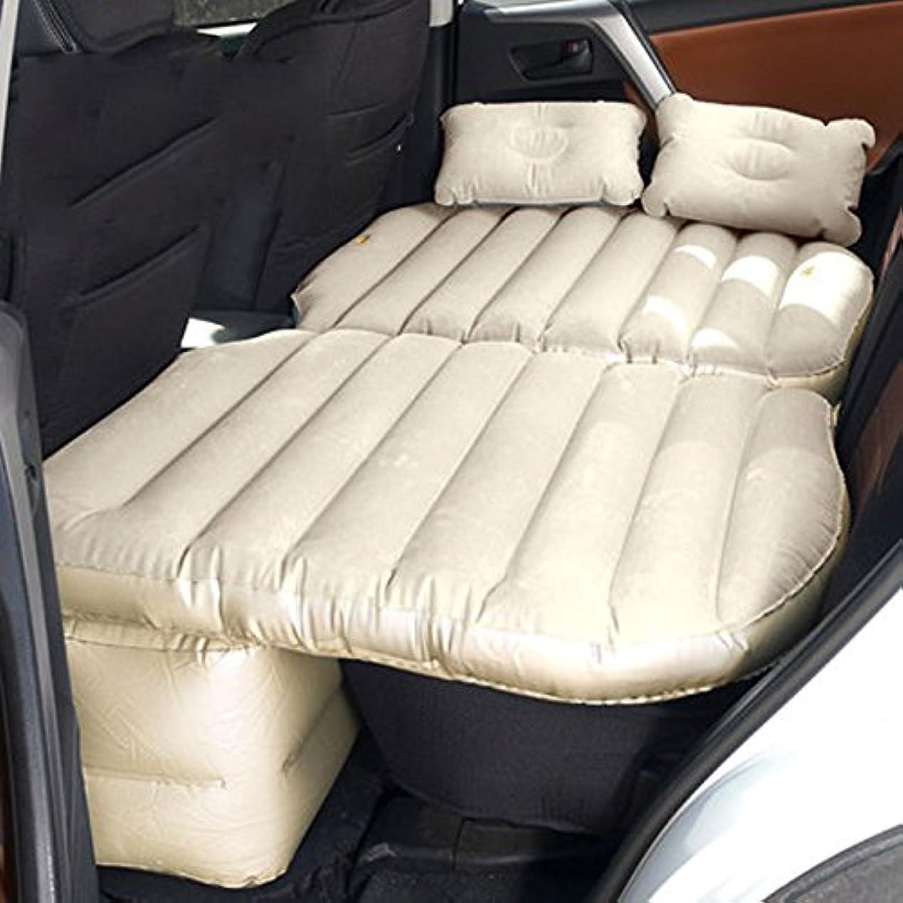 契約した細分化するエトナ山エアベッドカーインフレータブルベッド車のリア子供の旅行ベッドのカーベッドの車SUVの睡眠パッド アウトドアレジャー用品 (Color : Beige)