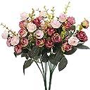 Luyue 7本立ち フォークシミュレーションの花絹の布造花 結婚式のお祝いの装飾 2個セット