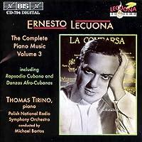 V 3: Complete Piano Music by ERNESTO LECUONA (1996-09-10)
