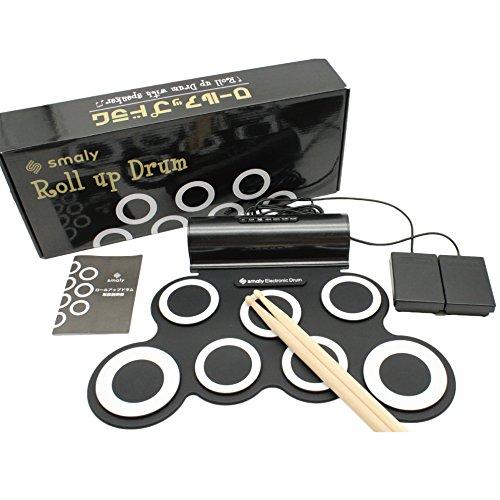スマリー(SMALY) 電子ドラム ロールアップドラム USB電源式 (スピーカー内蔵) フットペダル/ドラムスティック付属 SMALY-DORAM-1