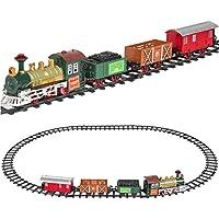 クラシック電車セット 子供用 音楽とライト付き 電池式 鉄道カー