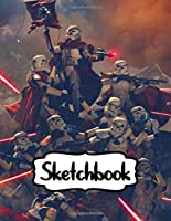 """Sketchbook: Star Wars Science Fiction The Jedi, Peacekeepers Of The Old Republic Universe American Epic War, Blank Paper Drawing and Write Doodling or Sketching: 109 Pages, 8.5"""" x 11"""". Kraft Cover Sketchbook"""