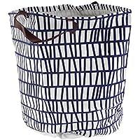 スウィフトグッド防塵折りたたみランドリーストレージバスケットの汚れた衣服の防水子供のおもちゃの収納バケツボックスビンのオーガナイザートートバッグセットハンドル1.5ベゼルオーガナイザー