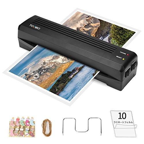 TOQIBO ラミネーター A4対応 100μフィルム厚対応 クイックラミ 3-5分ウォームアッ 最大ラミネート厚0.6mm カードや名刺などの小さなラミネートも可能