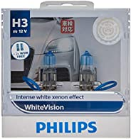 Philips White Vision H3 12V globes - twin display pack