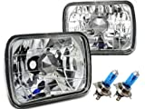 高品質◇角型2灯ヘッドライト H4バルブ・ポジション付属 ダイハツ ハイゼット / ミラ / シャレード / ロッキー