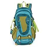 OUTAD リュックサック 登山 アウトドアザック 登山 リュック40L 取り外しのできる構造 アウトドア ランニング ジョギング 防水 超軽い 4色 (ライドブルー+黄色)