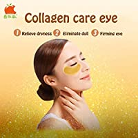 TOMATO PIE 140G Smooth Collagen Firming Moisturizing Eye Mask Gold Osmanthus Remove Dark Circles Skin Care Eye Mask