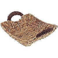 Perfk 自然 籐製 織物 収納バスケット 多目的 全3種  - 平方