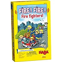 HABA Fire! Fire! Fire Fighters - A Speedy Game of Dexterity for Ages 5 and Up (Made in Germany) [並行輸入品]