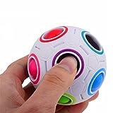 人気 レインボー ボール スピードキューブ 立体パズル おもちゃ  子供用/大人用 (レインボー ボール, レインボー)
