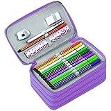 BTSKY Handy Wareable Oxford Colored Pencil Case 72 Slots Pencil Organizer (Purple)