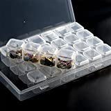 DishyKooker Storage Box 28 Lattices Dismountable Cross Stitch Cases Diamond Embroidery Accessories Home Storage Organizer Comfort