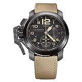 グラハム GRAHAM 腕時計 クロノファイター オーバーサイズ ブラックサハラ 自動巻き メンズ 2CCAU.B02A.T13N [並行輸入品]