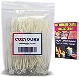 CozYours キャンドルコアウィック 6 インチ(150 ㎜) 100%天然コットン 100本