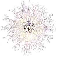 $天井灯 モダンタンポンクリスタルシャンデリアLED照明寝室の台所用ダイニングルームペンダントランプTFG28 (色 : 暖かい光, サイズ さいず : 90cm)