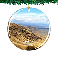 Weekino グレートリフトバレーアンボセリケニアクリスマスオーナメントシティ旅行お土産コレクション両面 磁器2.85インチ ぶら下がっている木の装飾