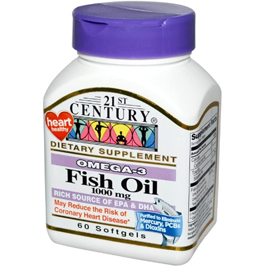 任命モール丘21st Century Health Care, Fish Oil, 1000 mg, 60 Softgels