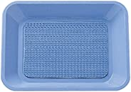 プラス カルトン(つり銭受け) 角型ゴム付 大 DT-201 36-165 ブルー
