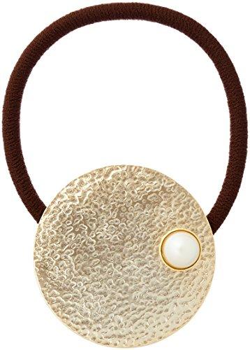 [해외][미루부란] milleblanc 펄있는 골드 메탈 헤어 고무 TM43HH-005G/[Mill Blanc] milleblanc Gold Metal Hair Rubber with Pearl TM43HH-005G