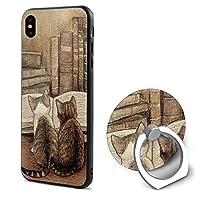 本 猫iPphone X携帯電話カバーリングブラケット IPhonexケース 人気 スタンド機能 ソフト 薄い 耐衝撃 おもしろい 個性 ストラップホール おしゃれ
