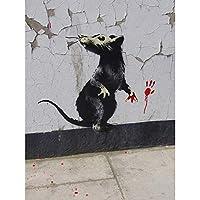 バンクシーRat詳細Graffiti Street Art Largeポスターアート印刷lf3738