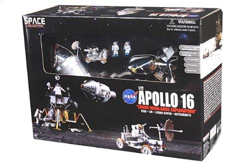 """1:72 ドラゴンモデルズ エアロスペース プログラム 50398 ダイキャスト モデル NASA アポロ 16 """"Casper"""" + """"Orion"""" 月 Landing 4月 21st 1972 月"""