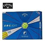 キャロウェイ(Callaway) ゴルフボール ERC SOFT ゴルフボール(1ダース) 6427956120044 イエロー