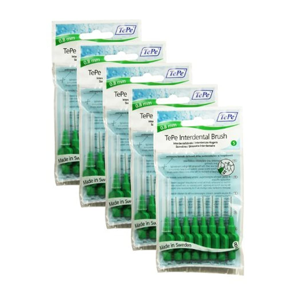 備品環境に優しい安価なTePe Original Interdental Brushes, Green (0.8 mm), 40 by TePe
