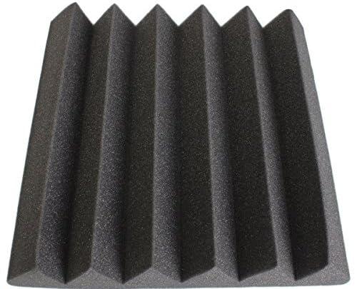 KING DO WAY吸音ボード 三角型加工  6枚入り 防音材 吸音材 吸音材 スポンジ ブラック 30 * 30 * 5センチメートル