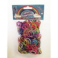 [並行輸入品] DIY カラフル ツイスト ルーンバンド[輪ゴム]- Loom Bands refill Pack - (600) rubber ring Color: Rainbow