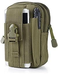 Toprime ガジェットバッグ コンパクト ベルトポーチ 多機能マルチポーチ アウトドア 防水 iPhone 6s/7 Plus 5.5インチ以下のサイズに対応 小物の持ち運びに最適