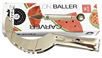 Stainless Steel Watermelon Slicer Cutter Corer and Server - Melon Baller and fruit carving tool chisel by CuisinePerfect by Perfect Impressions