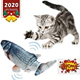 Electric Catnip Toys - Moving Cat Kicker Fish Toy, Wiggle Fish Catnip Toys, Motion Kitten Toy, Plush Interactive Cat Toys, Fun Toy for Cat Exercise, Cat-Fish-Toy-Kitty-Interactive (Black Catfish)