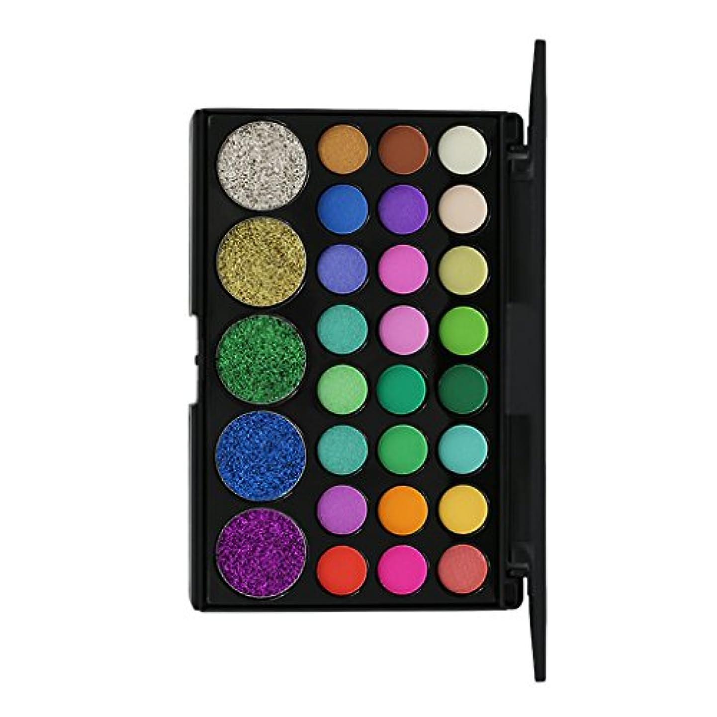 ダウンタウン平衡の29色の美しさメタルアイシャドウメイクアップパレットマットシャイニーアイシャドー - #2