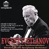 SSS0126 シューベルト:交響曲第8番「未完成」,第9番「ザ・グレート」 スヴェトラーノフ(指揮)スウェーデン放送交響楽団
