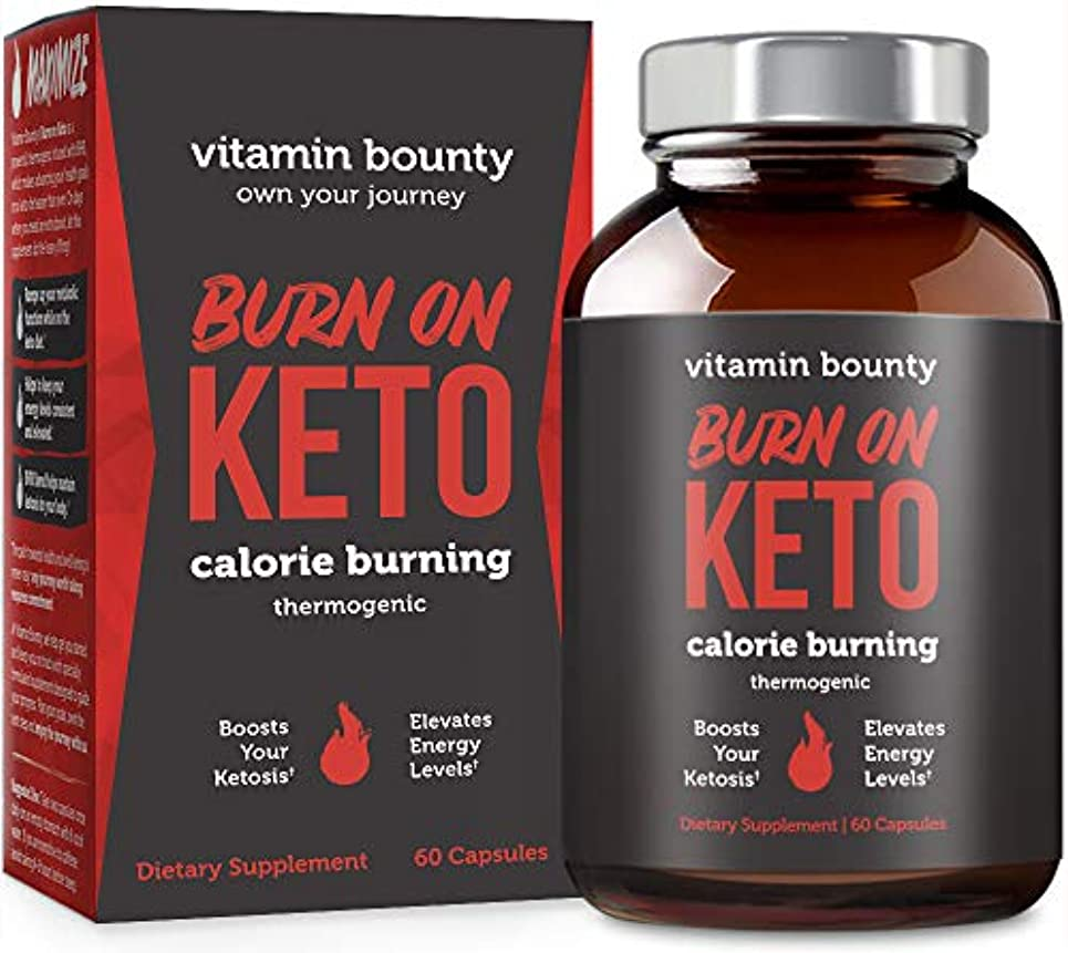 数値トレード推測するVitamin Bounty Burn on KETO ケトジェニック ダイエット 燃焼 サプリ 60粒/30日分 [海外直送品]