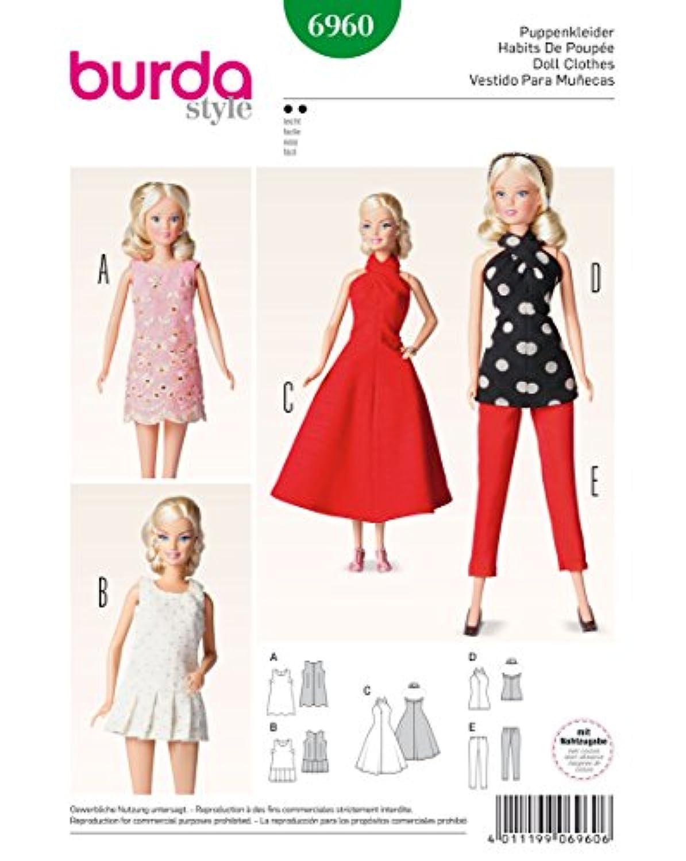Oop Burdaパターン6960。Clothes for 11.5