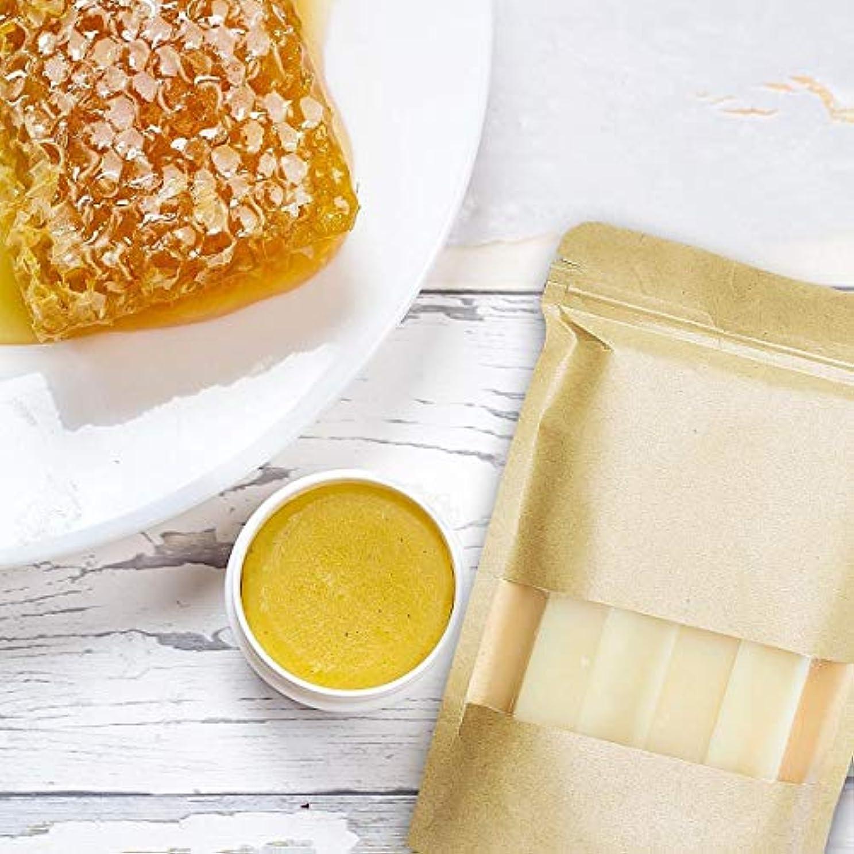 集まるペアいわゆる処置 自然食品グレードホワイト蜜蝋ワックスブロック