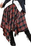 Hippies (ヒッピーズ) スカート ひざ丈 V系 パンク モード アシンメトリー アレンジ 55-0305 BC