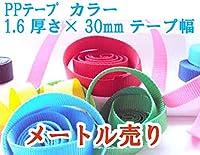 PPテープ・リプロン(ポリプロピレン)テープ 48カラー 1.6×30mm ナイロンテープ メートル売り (24 ターコイズ光沢)