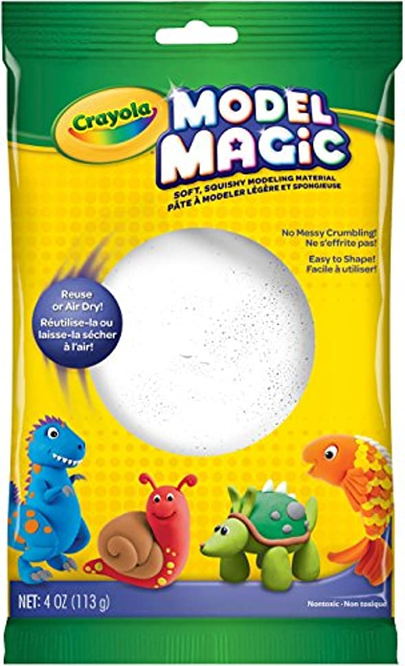 Crayola 57-4401 Model Magic, 120ml No-Mess, Soft, Squishy, Lightweight Modelling Material For Kids, Easy to Paint and Decorate, Air Dries Smooth, White
