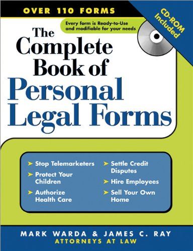 Download Complete Book Of Personal Legal Forms: (+ CD-ROM) 1572484993