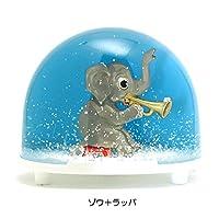 オブジェ 飾り インテリア小物 ディスプレイ ミニ 楕円 形の クラシック オーバル 舞う 雪 が 素敵 WALTER&PREDIGER ドイツ製スノードーム 動物シリーズ ゾウとラッパ