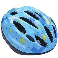 phalatina びっくり 軽い ヘルメット 幼児 キッズ 子供 小学生 選べる サイズ カラー 頭 安全 自転車 スケート ボード キック ボード かわいい めんこい おしゃれ (14.クロス(中))