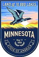 ミネソタ州状態動物Day 4x 5.5インチステッカーデカールDie Cutビニール–、アメリカで発送