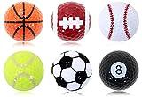 GolfStyle スポーツゴルフボール 練習用 観賞用 プリント球6柄セット