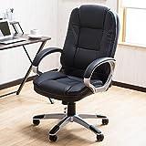 デスクワークに丁度良い 名相棒のオフィスチェアー 「ベル」 S字背面形状 ハイバックチェア ブラック色
