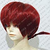 [ウェブエッセンス] コスプレウィッグ らんま1/2 ★らんま 風 高品質wig コスプレ ウィッグ+ウィッグ専用ネット+ オリジナル ブレスレット 付き
